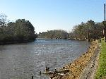 The Sabine River at Logansport with the River Stage in background